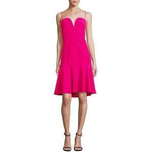 Milly Kelly Cady Dress Fuschia Italian Fabric USA